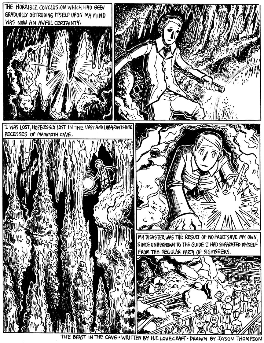 The Beast in the Cave, Page 1