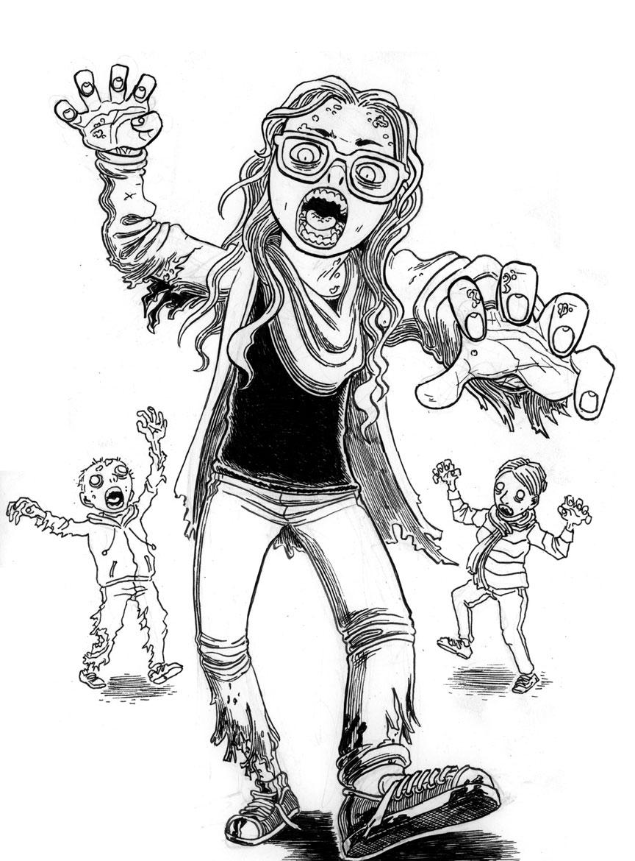 Zombie Portrait: Stagger