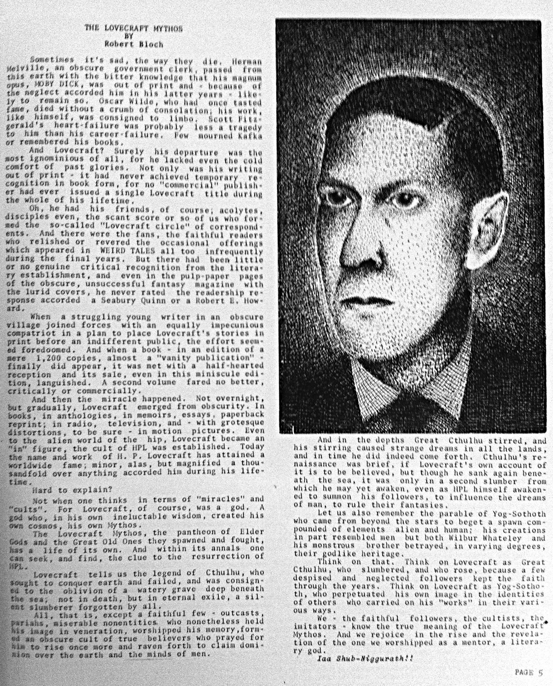 hp lovecraft essays h p lovecraft i think he d have liked this  hpl the best lovecraft zine ever com at the time i hadn t yet any lovecraft