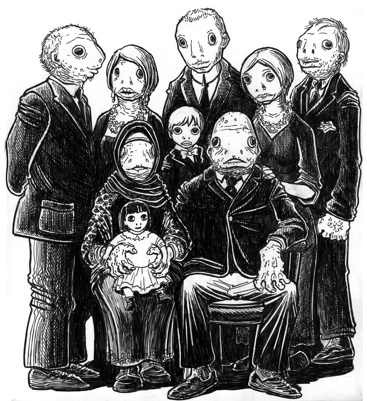 Lovecraft Sketch: Innsmouth Folk