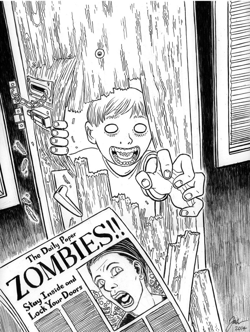 Zombie Portrait: Break-in
